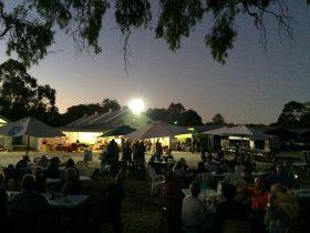 twilight market scene