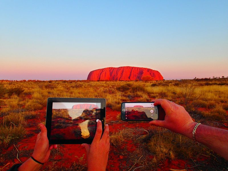 Watching an incredible sunset at Uluru is one of the most thought after experiences in Australia