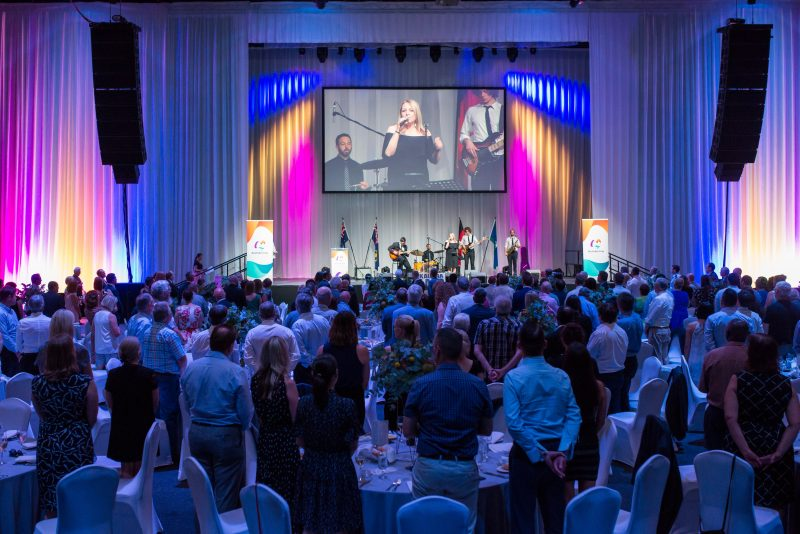 Australian of the Year Luncheon - people watching a performance on stage
