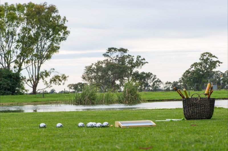 outdoor games available at the Cellar Door