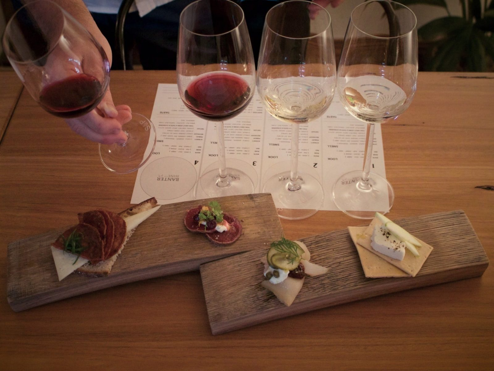 example of wine sample and food pairing