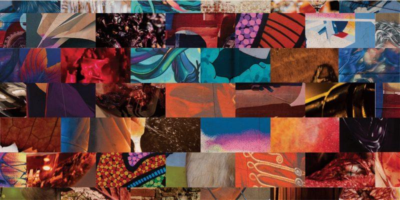 Collage of Wonderwalls street art and Barossa food and wine