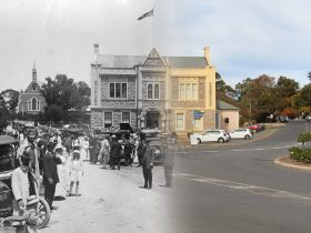 Angaston Town Hall 100 years apart