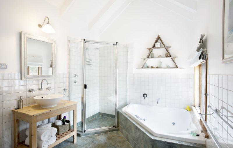 spacious corner spa