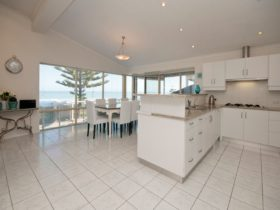 Spectacular sea views from all living areas and the kitchen.