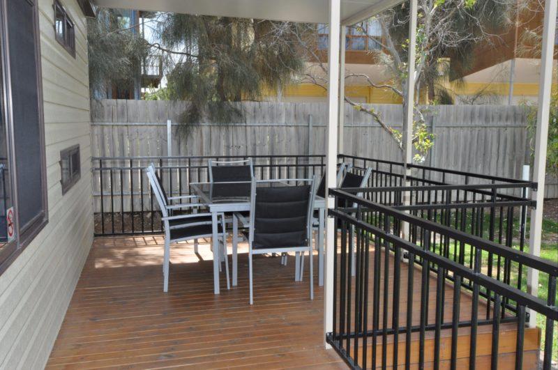 Outdoor Area Deluxe Cabin