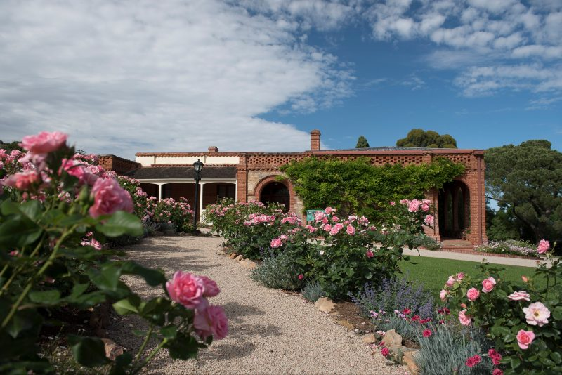 Beaumont House has a distinctive Mediterranean character with an open brickwork parapet and garden.