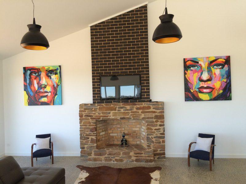 Huge Open fireplace