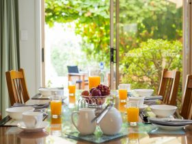 Guest Table set for breakfast