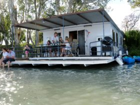 Large rear deck and swim deck, where you can relax and take in the river views