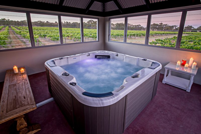 Your exclusive coved spa room can be enjoyed year-round