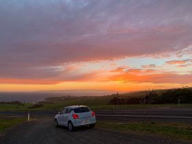 Hiring a car on KI gives you the opportunity to catch a gorgeous sunrise.