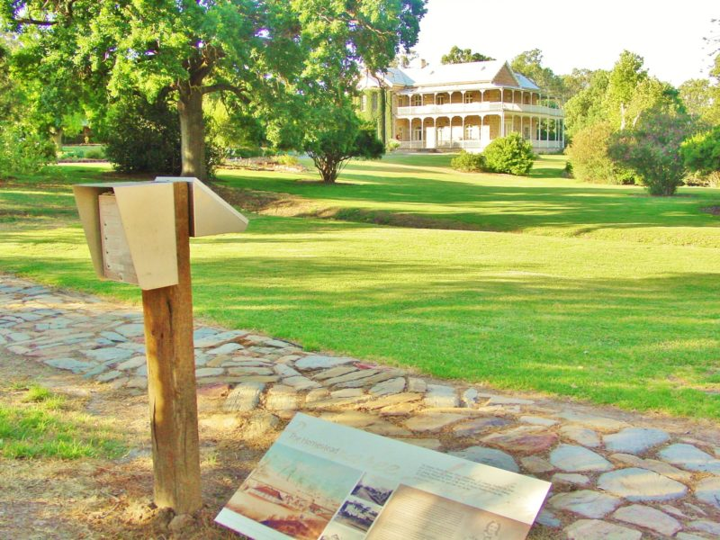 The self guided tour includes a visit to the Homestead Gardens