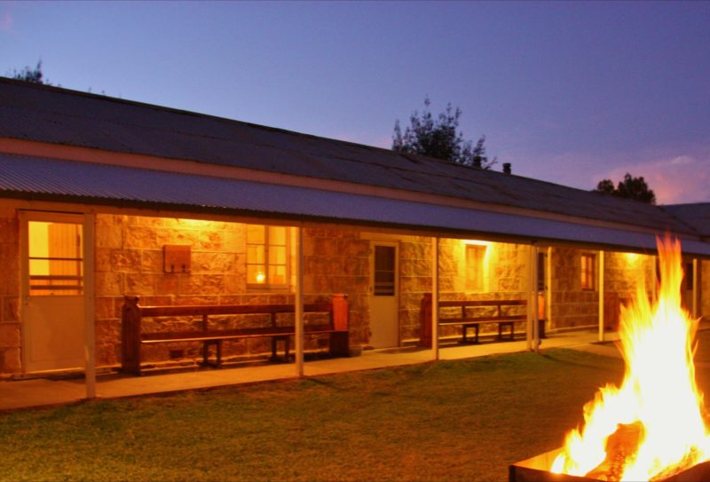 Guests can enjoy bonfires under the stars at Bungaree Station