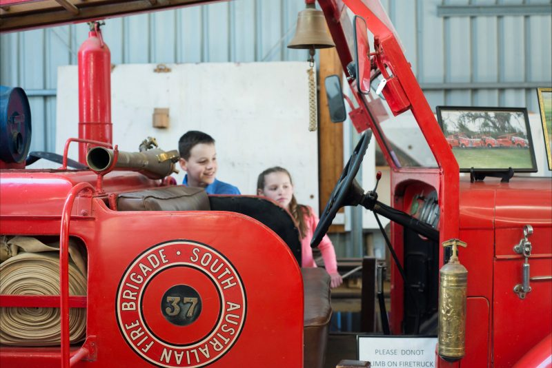 Explore the collection of historic vehicles at the Captains Cottage Museum