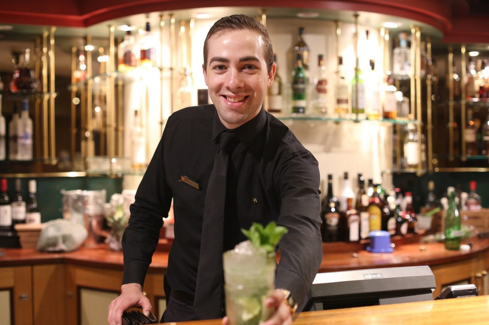 barkeeper, bar, drink , counter , mojito
