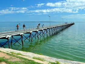 People fishing from Ceda Jetty