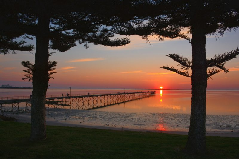 The sun setting on Ceduna's Jetty