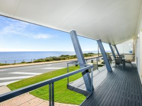 Balcony with sea views