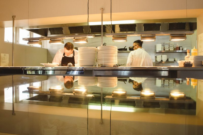 Looking into teh kitchen at Char Barossa