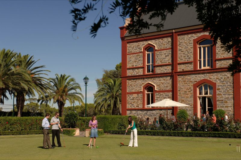 Enjoy a game of croquet over a regional platter and bottle of wine