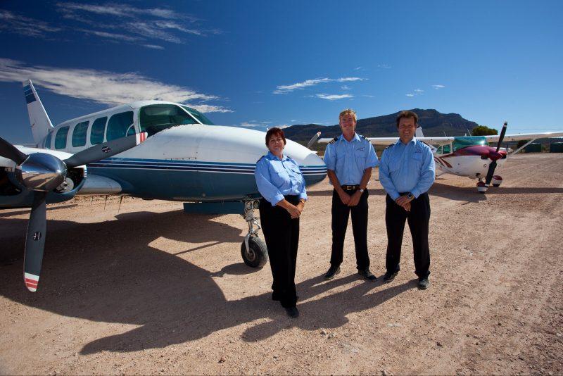 Chinta Air crew and aircraft