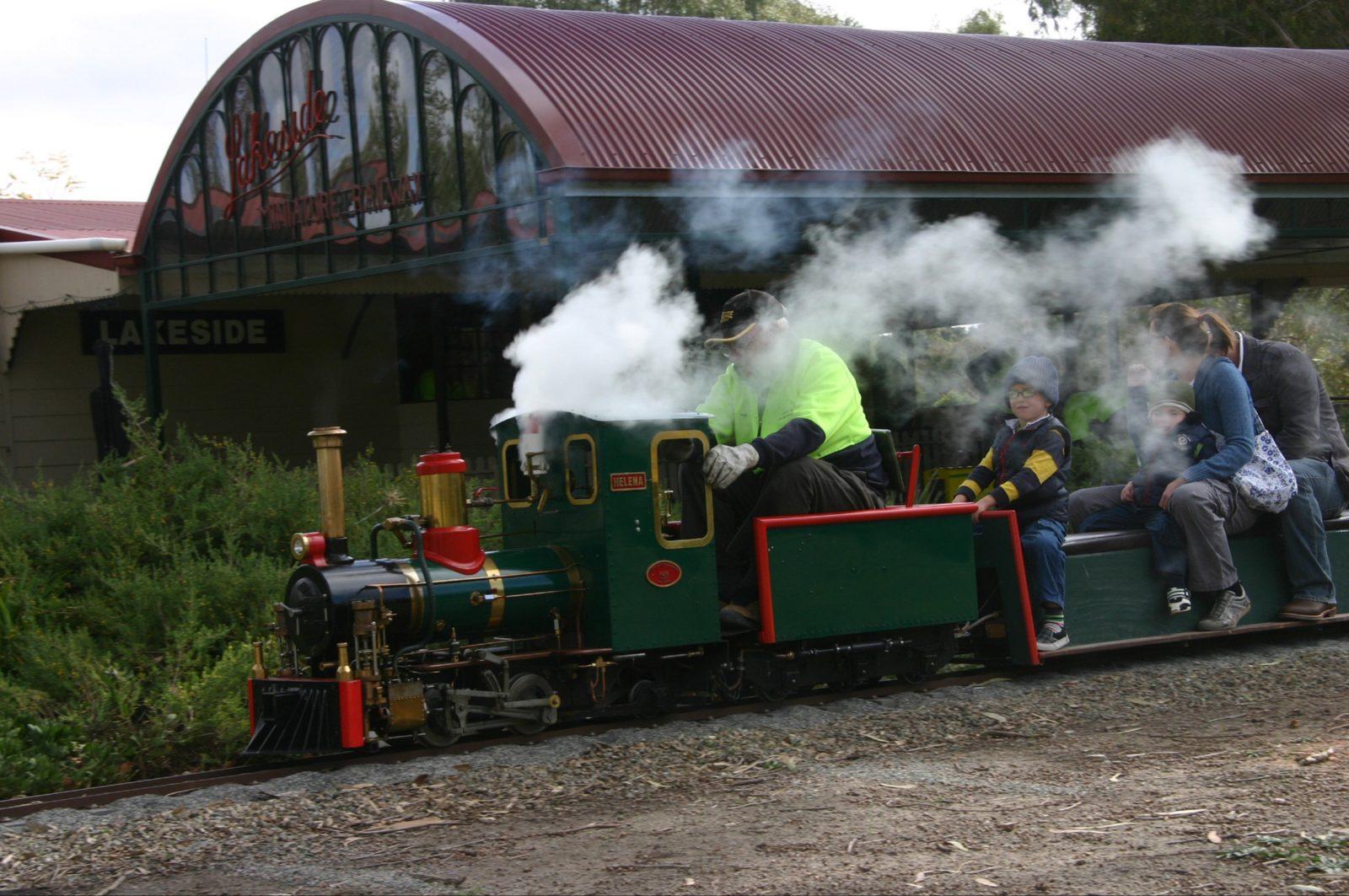 Steam train in action