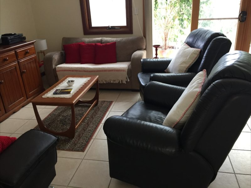 Comfy black recliners in Lounge Room