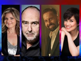 Images of Julia Zemiro, Claude-Michel Schönberg, Alfie Boe and Lea Salonga