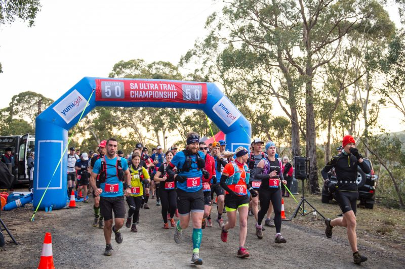 Off and Racing - 50km of spectacular challenging trail ahead.