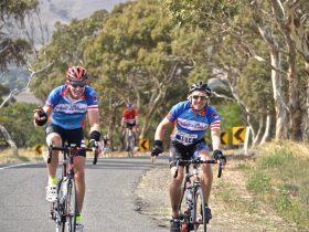happy participants enjoying Bike SA's Coast to Coast.