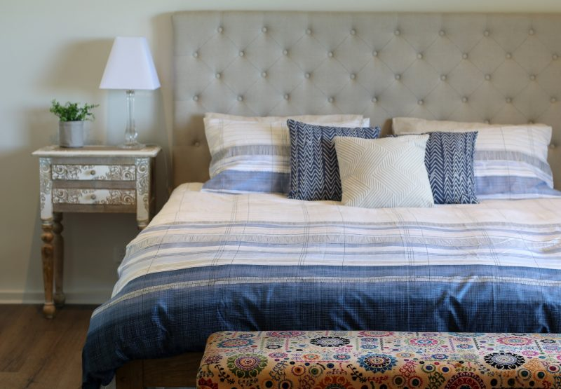 King beds with coastal views
