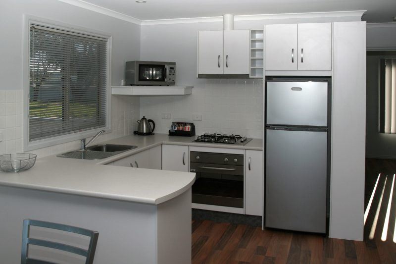 Kitchen in Spa Units beach frontage