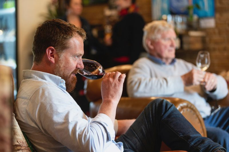 Enjoy a toasty glass of red in the warmth of our cellar doors