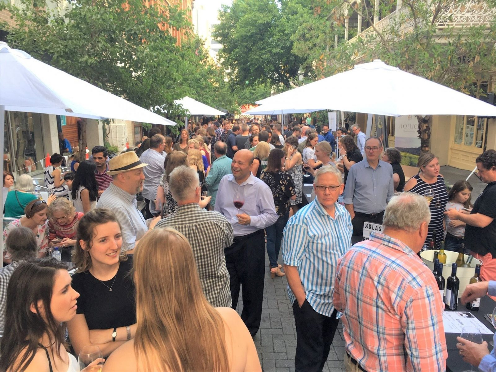 Wine lovers gather in Leigh Street to taste Coonawarra's world class wines