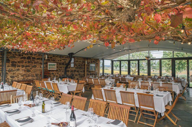 Coriole courtyard restaurant
