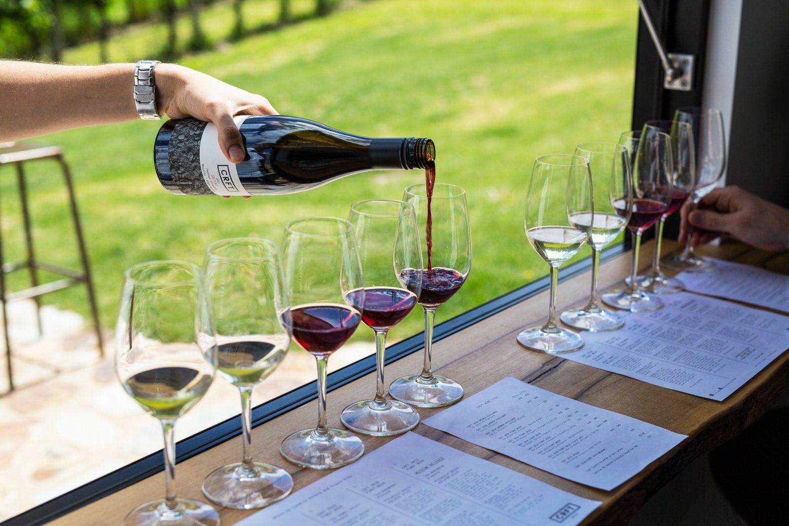 CRFT Wines - wine flights