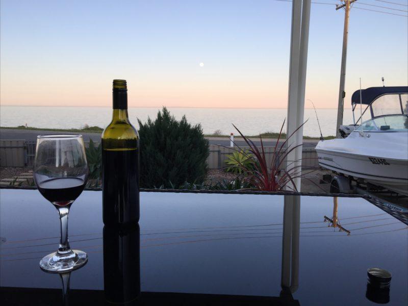 Enjoy an evening wine on the verandah
