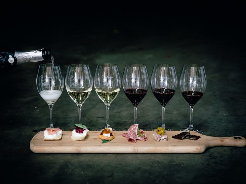 Indulge in a food and wine matching experience - six premium wines with six bites of regional food