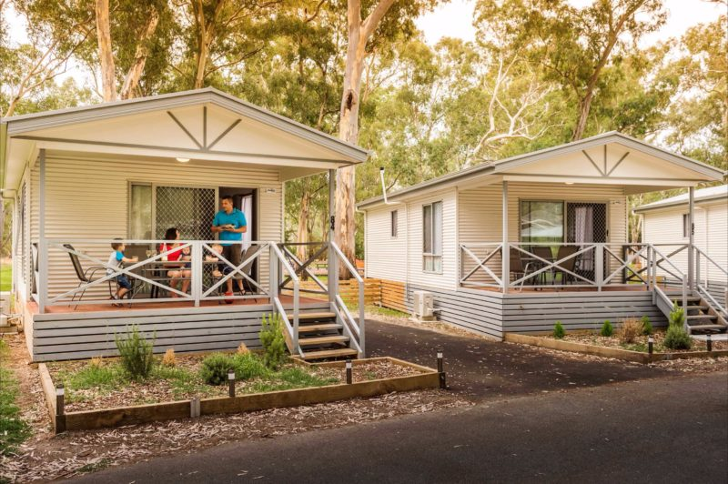 Cabin accommodation at Clare Valley holiday park