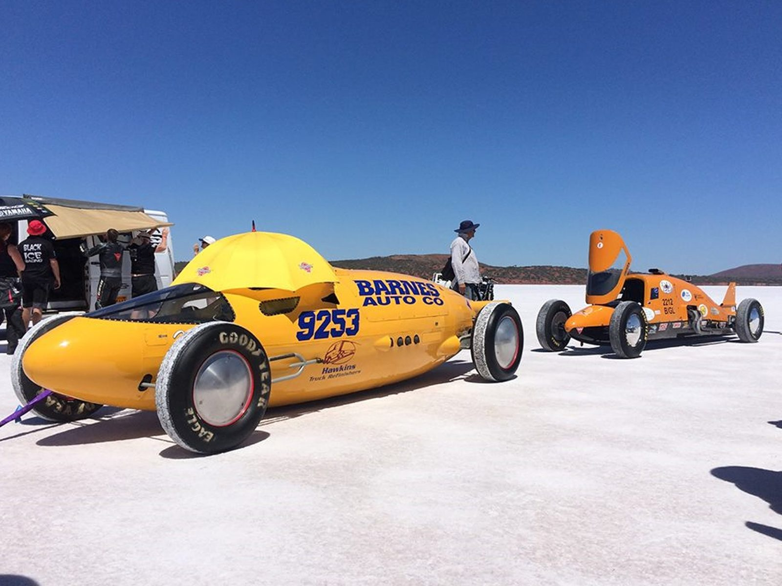 Vehicles at the start line of DLRA Speed Week