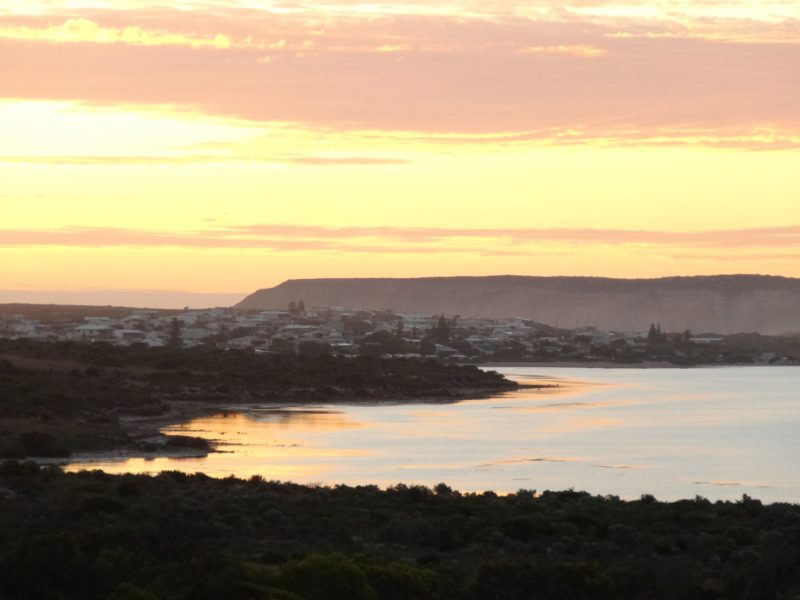The bay at sunset