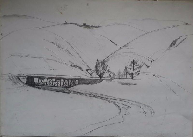 Line drawing by Nicholas Watson