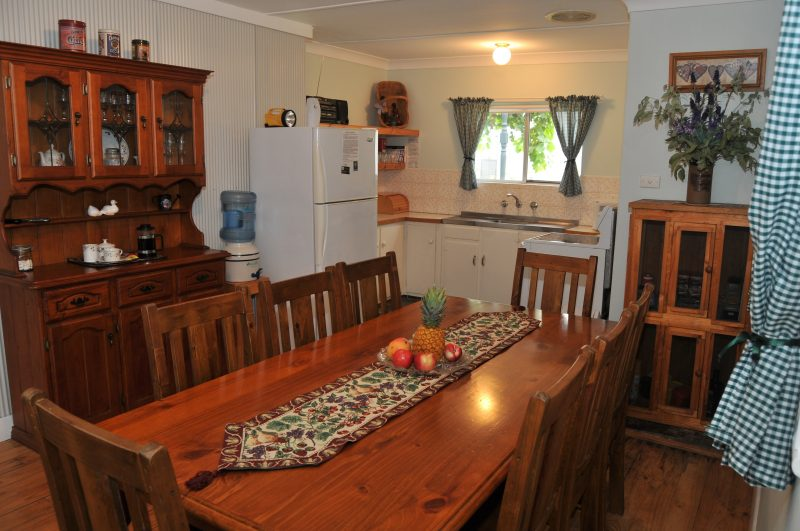 Homely kitchen and dining area