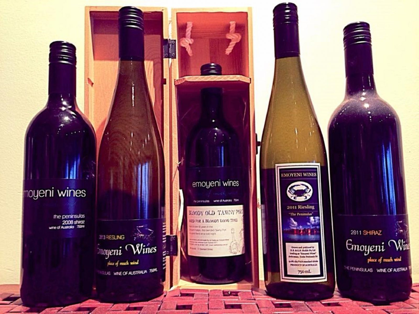 A selection of wines available