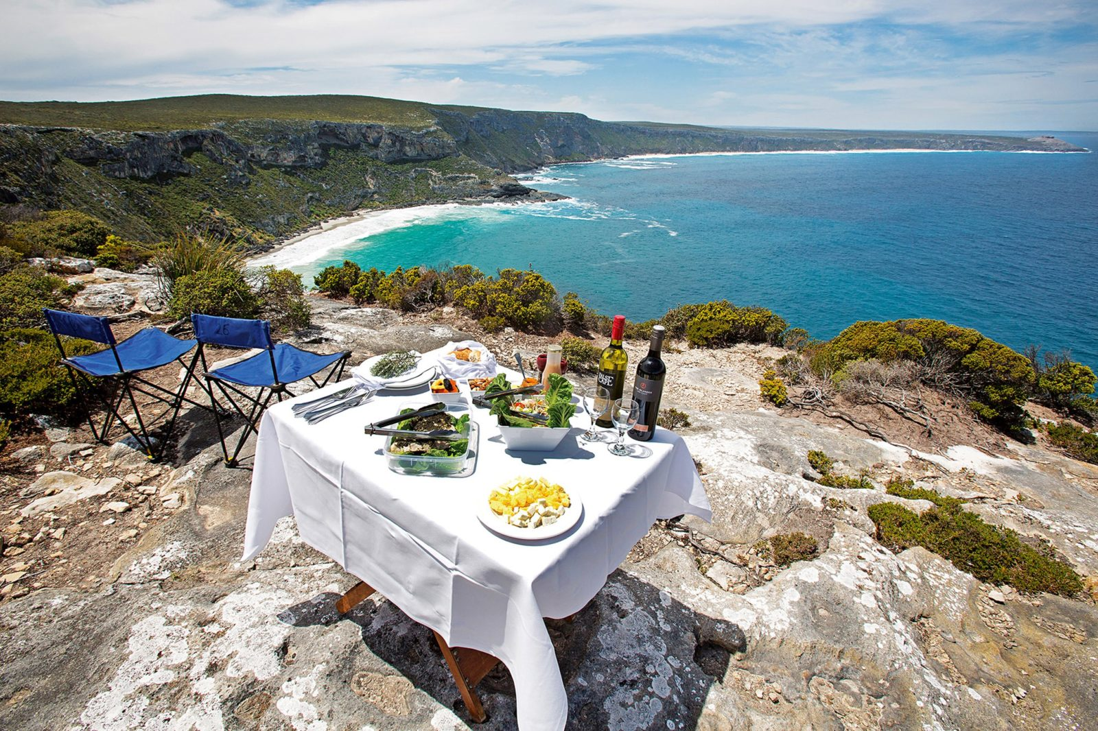 Dining on the clifftops is the best way to savour the solitude of Exceptional Kangaroo Island