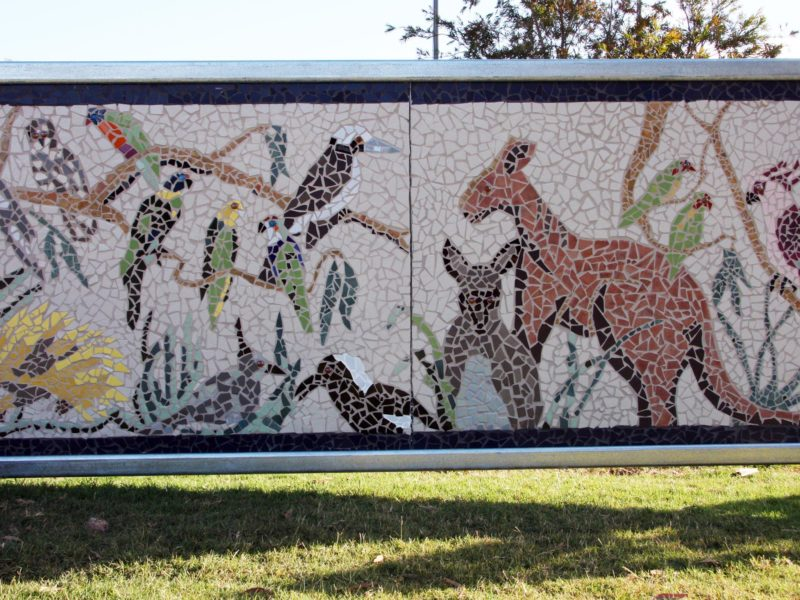 Families at Blyth completed mosaic panels for Farming, A Way Of Life - A Common Thread