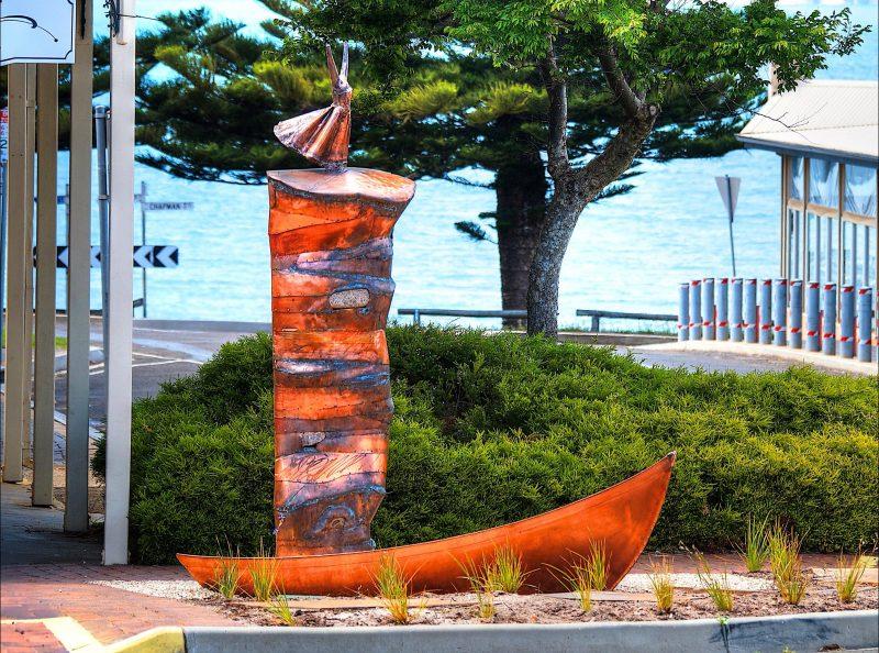 Deb Sleeman copper sculpture Fine Art Kangaroo Island exhibiting artist