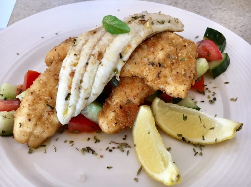 Crumbed or Grilled served with locally grown salad.