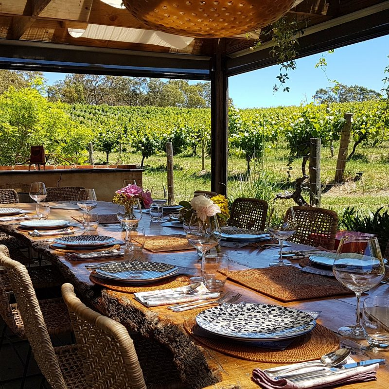 Long Table Lunch Setting